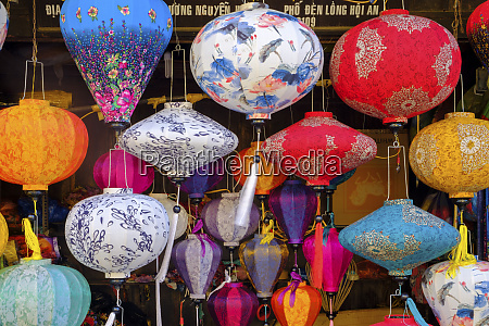 paper lanterns for sale in a