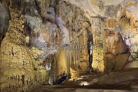 the illuminated interior of paradise cave