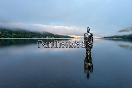 mirror man of loch earn highlands