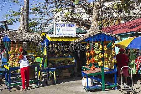 outdoor market clifton union island the