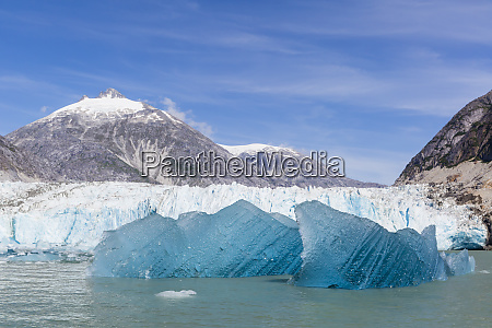 blue ice in front of the
