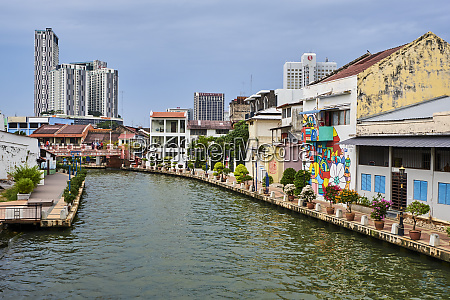 wall painting and the canal malacca