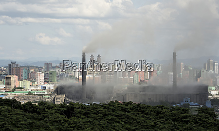 pollution from the power station near