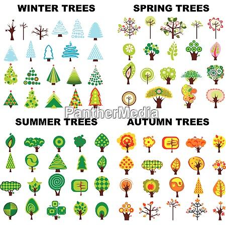 set of trees located on seasons