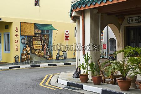 wall painting chinatown singapore southeast asia