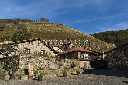 barcena mayor village cantabria spain europe