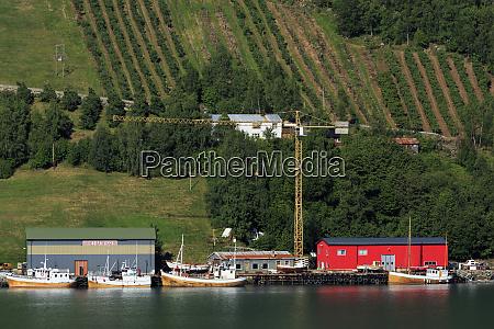 boatyard urnes village lustrafjorden sogn og