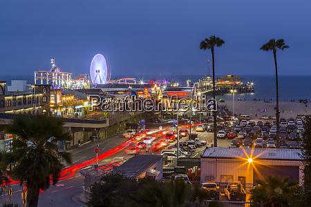 view of santa monica pier at