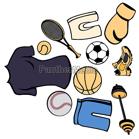 vector illustration of man accessories set