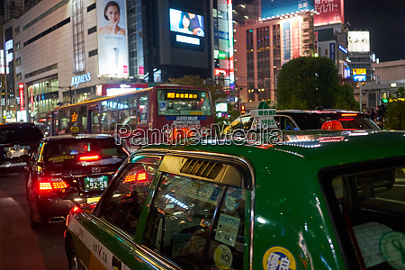 shibuya at night tokyo japan asia