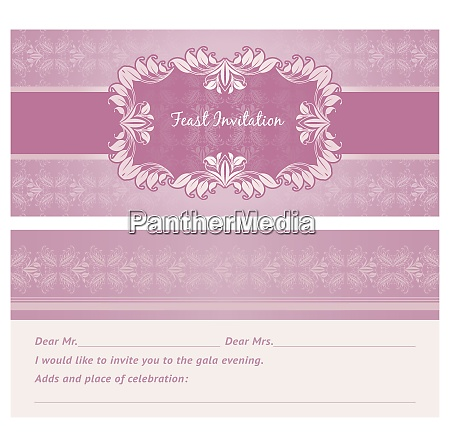 feast invitation background template