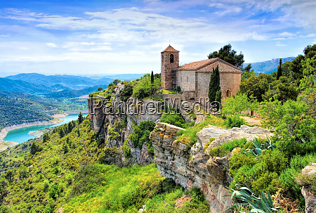 view of the romanesque church of