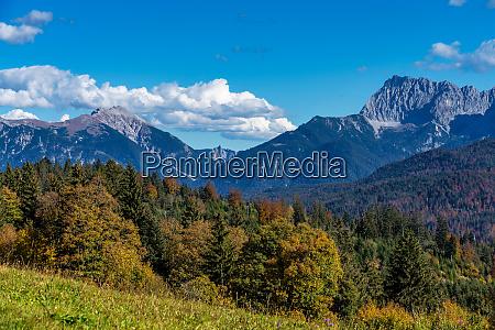 landscape near garmisch partenkirchen in bavaria