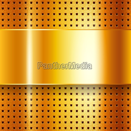scratched on gold chrome background