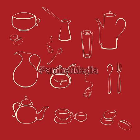 vector illustraition of kitchen utensil design