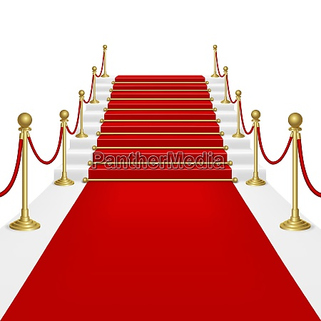 red carpet with ladder clipping mask