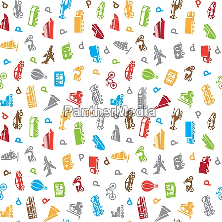 seamless transports pattern wallpaper