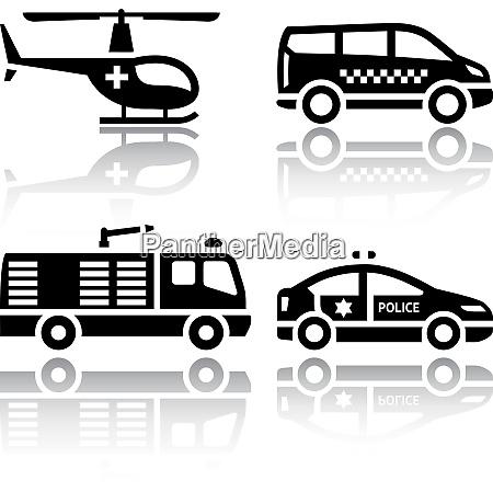 set of transport icons transport
