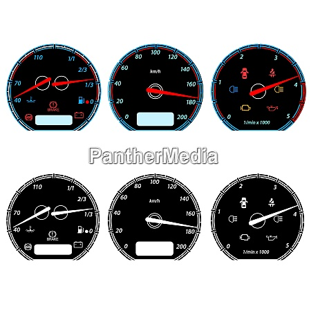 set of car speedometers for racing