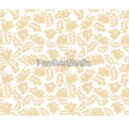 seamless flowers pattern wallpaper