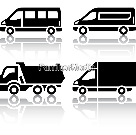 set of transport icons freight