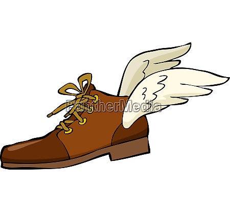 shoe, with, wings, on, a, white - 26502876