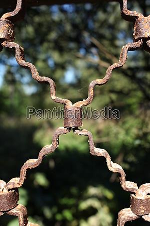 wrought iron metal grate