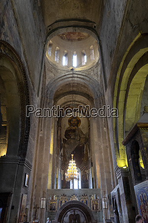 interior of svetitskhoveli cathedral of the
