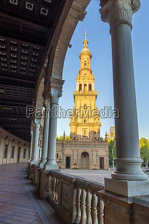 southern tower at plaza de espana