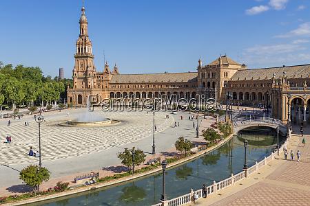 plaza de espana seville andalusia spain