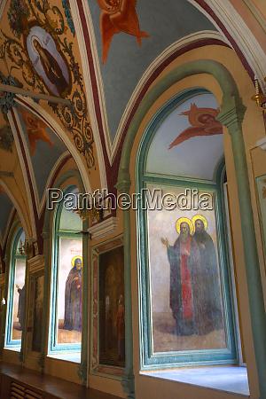 frescoes st sergius church the holy
