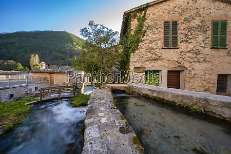 small town in the apennines in