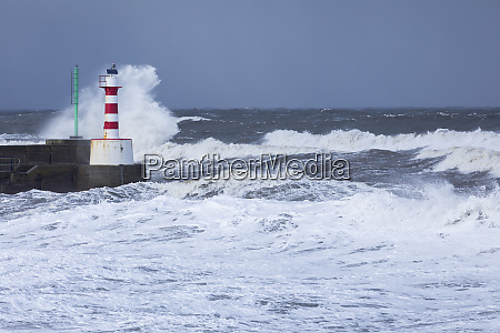 stormy seas as spring tides coincide