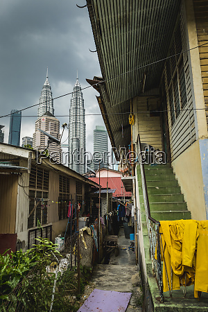 alley in kampung baru with the