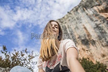 spain alquezar portrait of young woman