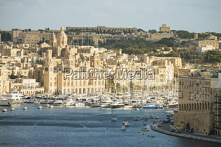 view over grand harbour valletta malta