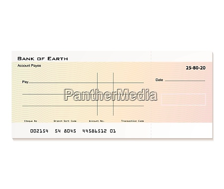 illustrated bank cheque with room for