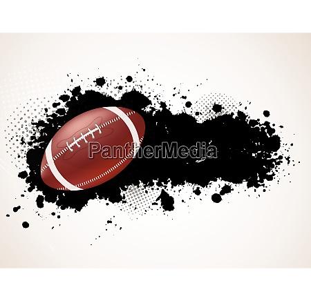 grunge background with ball sport illustration