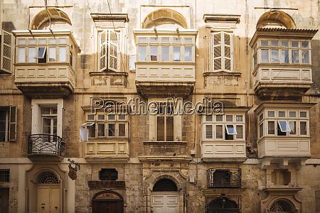 traditional, maltese, balconies, , valletta, , malta, , europe - 26510039
