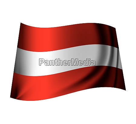 red and white austrian flag flying
