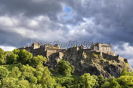 great britain scotland edinburgh castle rock