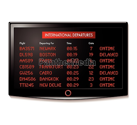 airport lcd display for departure times