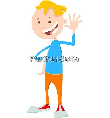 child or teen boy cartoon character