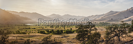 usa california three rivers panoramic view