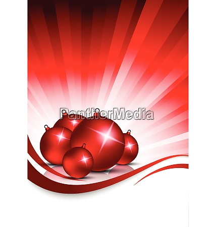xmas background with balls abstract red
