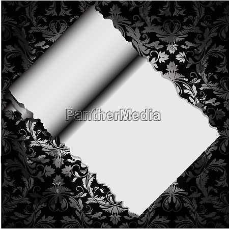 floral decorative paper with hole