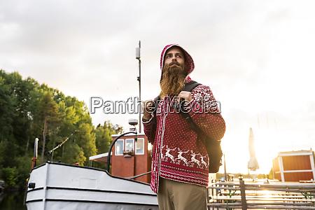 finland kajaani cheerful young man wearing