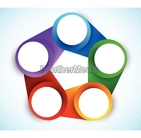 colorful circles diagram rainbow illustration