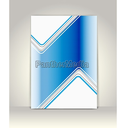 abstract flayer blue metallic
