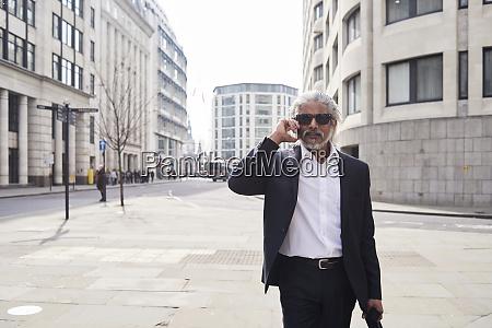 uk london portrait of senior businessman